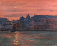 Venice    -     Andrei Kugaevski   Russian, b. 1958-    Oil on canvas, 40 x 50 cm.