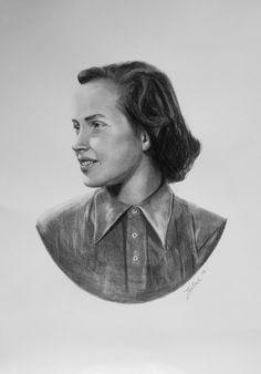 gróf Edelsheim-Gyulai Ilona portréja A/3-as rajz