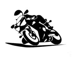 silhouette motorcycle - Bing Images  idea for spray bleach experiement