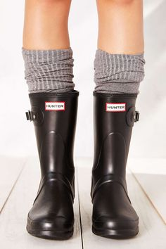 Hunter Original Short Rain Boot, the ultimate Hunters for me, mentioned before, short Hunter socks cuffs too :)