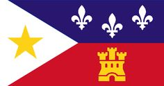 The flag of Acadiana: Cajun Country (southwestern Louisiana).New Orleans and Baton Rouge are NOT Cajun. NOLA is French-Creole and Baton Rouge is Mississipi Redneck and Yankee move-downs. Cajun French, French Creole, Louisiana Homes, New Orleans Louisiana, Mardi Gras Sayings, New Orleans Vacation, New Orleans Mardi Gras, I Love La, Down South