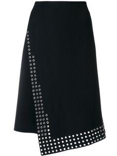Paco Rabanne юбка с отделкой люверсами