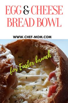 Egg cheese bread bowl , Baked bread bowl stuffed by egg & cheese with , pamper your self and your family by making special brunch at Easter day Chef Recipes, Side Dish Recipes, Baking Recipes, Bread Recipes, Good Food, Yummy Food, Dinner On A Budget, Fast Dinners, Bread Bun