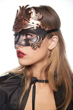 For sale: one gladiator mask. Worn with satin ribbons attached to sides of the mask. Made with lightweight eco-friendly poly resin. Gladiator Costumes, Roman Warriors, Warrior Costume, Half Mask, Party Pictures, Costume Accessories, Costumes For Women, Venetian, Masquerade