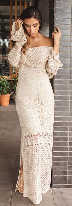 Crochet Maxi Dress Festival Style by Decor e Salto Alto