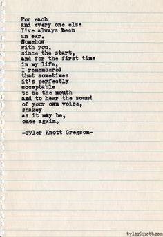 Tyler Knott Gregson: Typewriter Series