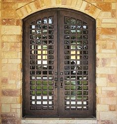 Iron front doors customized by Monarch Custom Doors. You can choose between various finishes for your wrought iron front doors. Contact us for a quote. Iron Front Door, Front Entry, Double Door Design, Custom Wood Doors, Wrought Iron Doors, Iron Steel, Unique Doors, Iron Gates, Steel Doors