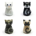 Cat Beads by Lampwork Artist Laura Sparling