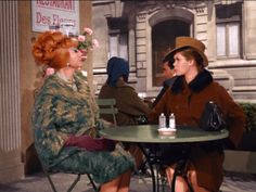 "Endora discovered a charming little restaurant just ""around the corner"" --in France. ;) From ""Samantha, The Dress Maker"""