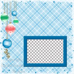"""Quick Page, Blue, Digital Scrapbooking, Christmas Time Collection, 12"""" x 12"""", 300 dpi, PNG File Format"""