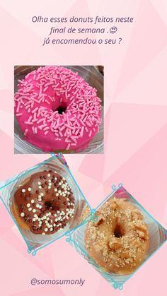 #donuts #donut #recheio #rosquinha #amendoin #chocolate #morango Donuts, Doughnut, Chocolate, Desserts, Food, Stuffing, Strawberry Fruit, Meal, Beignets