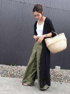 niko and...のワンピース「ジョーゼット無地ワンピース【niko and ...】」を使ったamiのコーディネートです。WEARはモデル・俳優・ショップスタッフなどの着こなしをチェックできるファッションコーディネートサイトです。 Estilo Fashion, Xl Fashion, Japan Fashion, Daily Fashion, Fashion Outfits, Womens Fashion, Fashion Trends, Casual Outfits, Summer Outfits