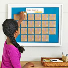 """Thanksgiving Calendar - attach mini envelopes to framed, painted foam core. Each day write a """"thankful note"""", then read them all during Thanksgiving dinner."""