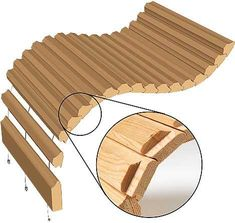 Make canoes with MLCS Flute and Bead router bits and roll-top desks with our Tambour Door Router Bits