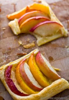 James and the Giant Peach: peach tart