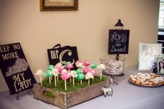 . Kentucky Derby Bridal shower derby cake pops
