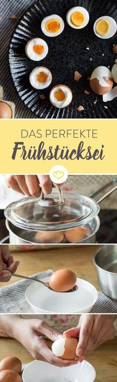Wachsweich oder doch lieber hart?5 Minuten oder 9 Minuten? Entdecke jede Menge Tipps, wie du das perfekt gekochte Ei zubereitest.