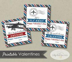 Printable Vintage Airplane Valentines — Shy Socialites