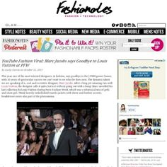 New YouTube Fashion Viral: Marc Jacobs says goodbye at  #PFW read more at www.fashionotes.com #blogger#fashionotes