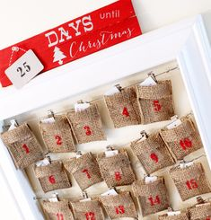 DIY Christmas Countdown Sign created with the Silhouette & the advent calendar kit
