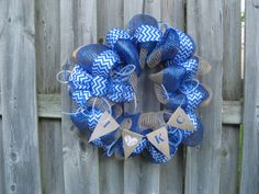Kansas City Royals Deco Mesh Wreath with I by BabesnBowsBoutique