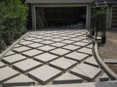 Inspiring entry ideas with pavers for an amazing exterior driveway pav .Inspiring driveway ideas with paving stones for an amazing exterior at impressive ideas to beautify your beautiful garden with breathtaking paving impressive Driveway Paving, Driveway Design, Garden Paving, Driveway Landscaping, Patio Design, Landscaping Ideas, Cheap Patio Pavers, Outdoor Walkway, Outdoor Tiles