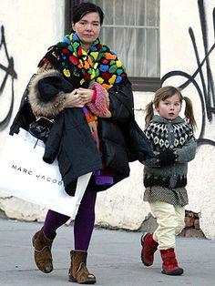 Björk and Her Pigtailed Princess,Ísadóra