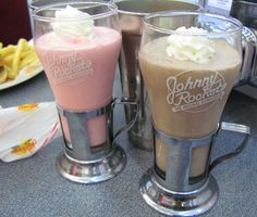 The best shakes I've ever had. Try the Oreo Cookie 'n Cream Shake @ Johnny Rockets!
