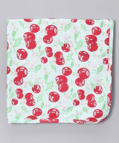 Take a look at this Cherry Pie Organic Receiving Blanket by Barn Organics on #zulily today!