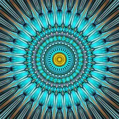 ☯☮ॐ American Hippie Psychedelic Mandala