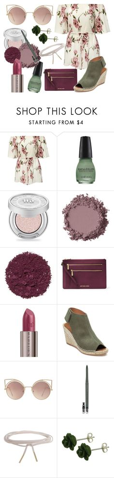 """""""Soft Flower Child"""" by mjoseph1150 ❤ liked on Polyvore featuring Urban Decay, Illamasqua, MICHAEL Michael Kors, 275 Central, MANGO, Estée Lauder and Humble Chic"""