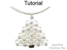 Christmas Tree Beading Pattern with SuperDuo Beads  Jewelry