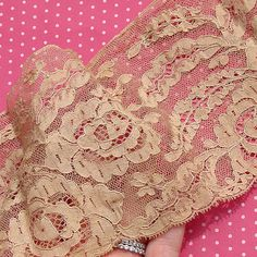 Antique Lace Vintage Lace Alencon Lace Ecru