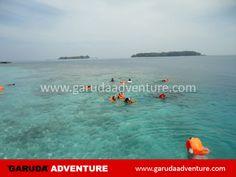 Beningnya laut sekitar pulau Sepa