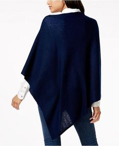 Cashmere Charter Club Luxury Cashmere Cape- Poncho- One Size Cashmere Poncho, Cashmere Sweaters, Macy Gray, Bell Sleeve Top, Sweaters For Women, Tunic Tops, Pullover, My Style, Club