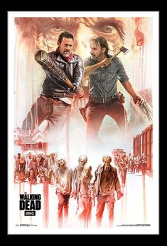 A great poster from The Walking Dead! Rick Grimes and Negan fight for survival in the Zombie apocalypse. Check out the rest of our excellent selection of Walking Dead posters! Need Poster Mounts. The Walking Dead Poster, Walking Dead Tv Show, Walking Dead Season, Fear The Walking Dead, Walking Dead Wallpaper, Best Zombie, Stuff And Thangs, Zombie Apocalypse, Rick Grimes