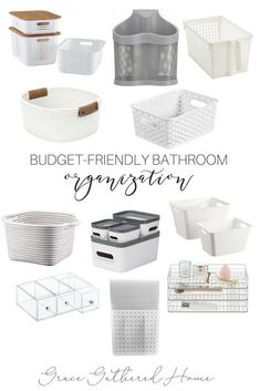 Budget-Friendly Bathroom Organization A collection of some of the best bathroom organization on a budget! Tons of baskets, drawers, and shelves to choose from to organize your bathroom. Budget Bathroom, Simple Bathroom, Bathroom Ideas, Bathroom Remodeling, Neutral Bathroom, Bathroom Inspo, Bathroom Organization, Bathroom Storage, Organize Bathroom Drawers