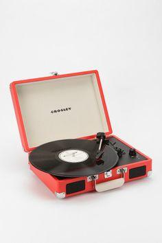 Crosley Cruiser Briefcase Portable Record Player!! Soooooooo cute!!!
