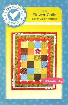 Flower Child Quilt Pattern Pieces from my Heart - Fat Quarter Shop