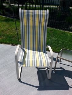 Bon Patio Sling Chairs  Recover
