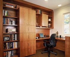 versatile storage workspace bookshelves in main living area - Google Search