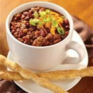 Millstone® 3 Bean Java Chili  http://www.millstone.com/coffee-recipes/5609/default.aspx#