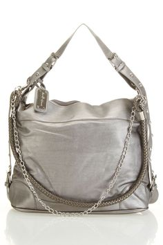 Chain Chick Handbag In Pewter