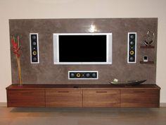 eine super modern gestaltete fernsehwand | fernsehwandideen ... - Fernsehwand Ideen