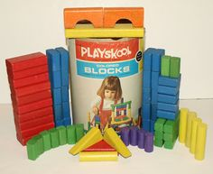 Playskool Wooden Blocks.  Played with these all the time!