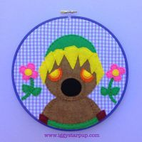 Deku Scrub Link Without Caption by iggystarpup Video Game Crafts, Embroidery Hoop Art, Felt Art, Bat Signal, Legend Of Zelda, Superhero Logos, Pop Culture, Artisan, Kids Rugs