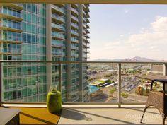 What a gorgeous #mountain #view! | Image: West 6th in #Tempe, AZ #apartment #arizona #mountains #balcony #apartments
