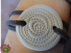 stamped clay wrap bracelet