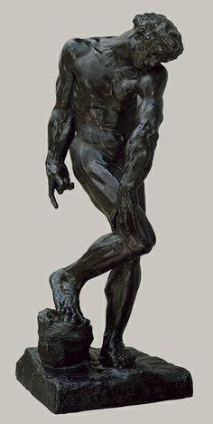 """""""Adam"""" by Auguste Rodin French sculptor. Heilbrunn Timeline of Art History - The Metropolitan Museum of Art. Auguste Rodin, Pierre Auguste Renoir, Musée Rodin, Art Sculpture, Modern Sculpture, Bronze Sculpture, Camille Claudel, Oeuvre D'art, Art History"""