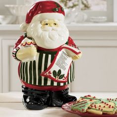 Santa Cookie Jar from Through the Country Door®